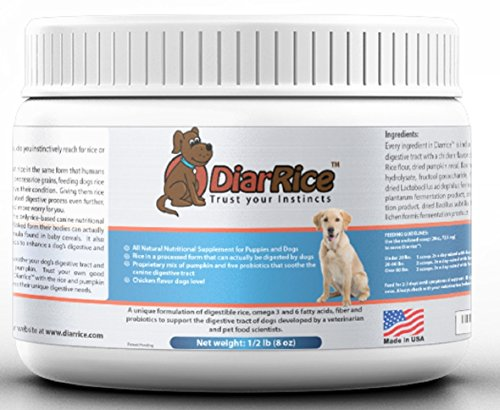 DiarRice Probiotic for Dog Diarrhea, Bloating, Gas, and Stomach Discomfort (8 oz)