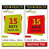 Farganic 15 Days Weight Loss Green Tea. 100% Natural and Herbal. Day Time Tea, Bed Time Tea....