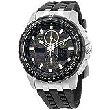 Citizen Men's JY8051-08E Eco-Drive Skyhawk Atomic Timekeeping Black Polyurethane Watch