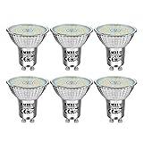 EACLL Bombillas LED GU10 4000K Blanco Neutro 6W Fuente de Luz 745 Lúmenes Equivalente 60W Halógena. AC 230V Sin Parpadeo Focos, 120 ° Spotlight, Blanca Neutra natural Lámpara Reflectoras, 6 Pack