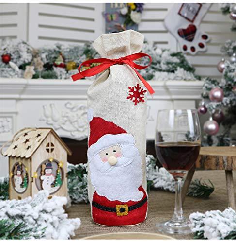 PUBMIND - Funda para botella de vino tinto navideño, bolsas de regalo para vino tinto, bolsas de champán, bolsas...