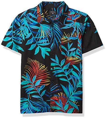 Quiksilver boys Garden of Eden Youth Woven Shirt, Black, X-Large US