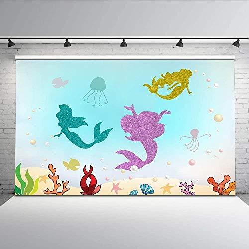 Mermaid Party Under the Sea Party Decorations Birthday Banner Mermaid Banner Art Decor Tamengi Under the Sea Banner Glitter Banner Mermaid Garland