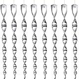 Anisity Espiral reflectante para ahuyentar pájaros (8 unidades, reflectante)