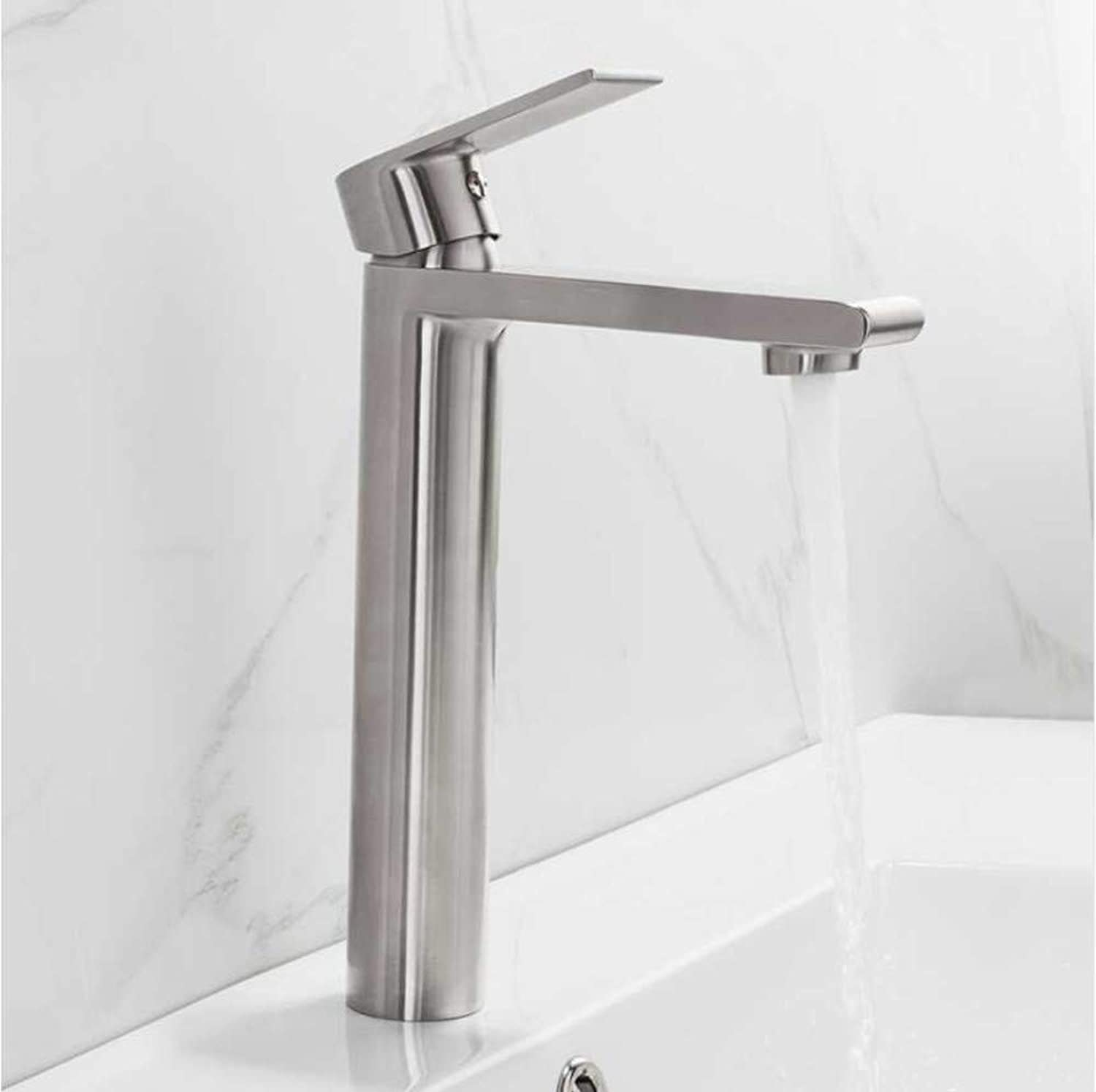 Jukunlun Basin Faucet Basin Mixer Tap Mixer Stainless Steel Water Sink Sensor Faucets Bathroom Waterfall Faucets