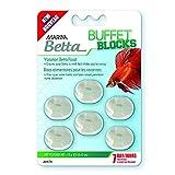 Marina, Buffet Blocks, Comida de Vacaciones para peces betta, 6 bloques