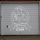 wZUN Reparación de mecánico de automóviles Silueta Pegatinas de Pared Servicio de Coche Garaje Taller calcomanía Arte de la Pared decoración 85X90 cm
