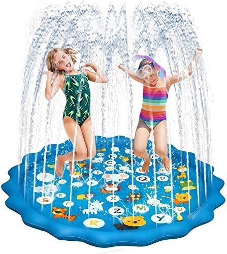 HONYAO Splash Pad, Aspersor de Juegos de Agua para Infantil, Jardín de Verano Juguete, Almohadilla Engrosamiento de Juego de Agua, Niños y Niñas