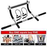 Pull up bar for Doorway, Heavy Duty Wall Pull Up Bar, Portable Chin Up Bar/Pullup bar Iron Gym/Home Upper Body Workout Equipment Bar No Screw for Men/Women (Silver)