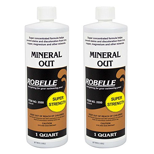 Robelle 2550-02 Mineral Out Stain Remover for Swimming Pools, 1-Quart, 2-Pack