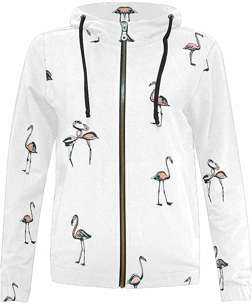 InterestPrint Balck Hummingbird Kids Zip-Up Hooded Large-scale sale Sweatshirt Ou Courier shipping free shipping