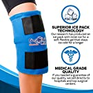 """Knee Ice Pack Wrap (11"""" x 12"""") by Cool Relief - Flexible Cold Pack Wrap For Long-Lasting Superior Knee Compression - Knee Ice Pack Wrap For Joint Pain Relief & Faster Injury and Surgery Recovery #1"""