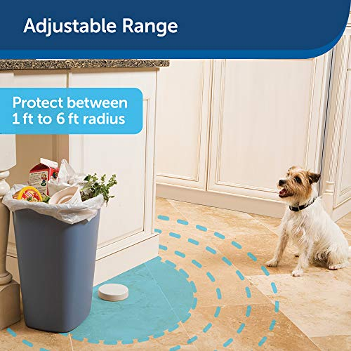 PetSafe Pawz Away Indoor Pet Barrier with Adjustable Range – Dog and Cat Home Proofing – Static Correction – Wireless Pet Gate Keeps Areas Off Limits – Battery-Operated – For Pets 5 lbs. and Up