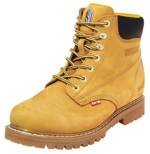 "Cactus Men's 6"" 611 Work Boot, Tan, 9 D(M) US"