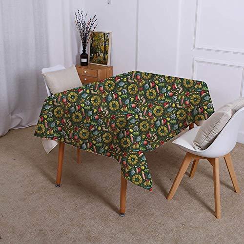 XXDD Diseño Creativo muñeco de Nieve Mantel Impermeable decoración Retro Mesa de Comedor Mantel de Cocina para el hogar A4 135x200cm