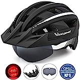 VICTGOAL Fahrradhelm MTB Mountainbike Helm mit abnehmbarem magnetischem Visier Abnehmbarer