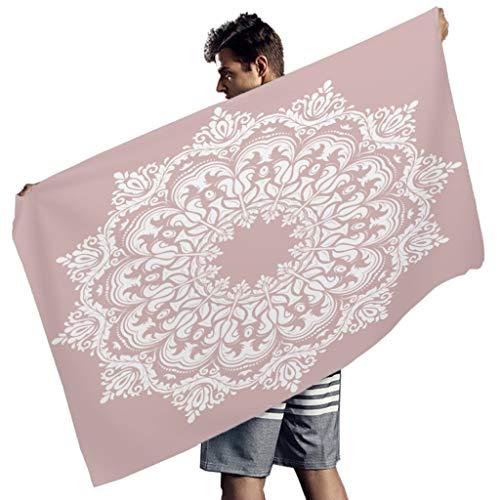Chicici Fashion Toalla de playa de secado rápido cómoda toalla de piscina – para gimnasio blanco 150 x 75 cm