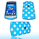 DESIGN - POINT BLUE - SILIKON TPU HANDY COVER CASE Hülle Schale - für SONY ERICSSON Xperia NEO