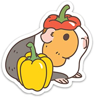 Bell Peppers and Guinea Pig Vinyl Sticker for Laptop and Water Bottles