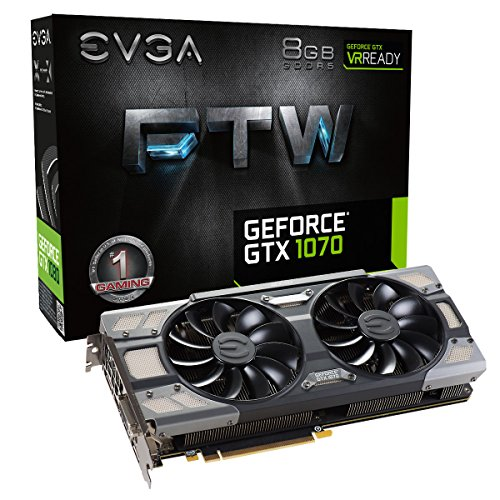 EVGA GeForce GTX 1070 FTW GAMING ACX 3.0, 8GB GDDR5, RGB LED, 10CM FAN, 10 Power Phases, Double...