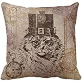 DDHHFJ Floral Stripes - Flora Botanica Black and White Throw Pillow Cover Cushion Case,Cover Size:18 x 18 inch(45cm x 45cm)