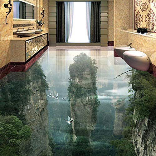 Vliesbehang 3D behang Romantic behang voor vloeren met 3D-foto's Cliffs bergen woonkamer badkamer tegels voor vloeren 3D wand rol 400*280