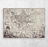 ZFLSGWZ Mapa De La Antigua Roma, Decoración De La Pared, Decoración De La Habitación del Hogar, Cuadro, Pintura En Lienzo para Decoración De La Sala De Estar, Gran Regalo, 50X70Cm Sin Marco