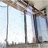 GAXQFEI Lona Impermeable Resistente, Vidrio Suave Espesado de Pvc, Refugio de Alta Penetración Contra la Lluvia, Protección Del Medio Ambiente, Toldo para Parabrisas de Ventana Al Aire Libre,Transpar