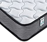 Kono Single Mattress 3FT Spring Mattress Medium Firm with Memory Foam and 3D Breathable Quilted Knitting Fabric Fire Resistant