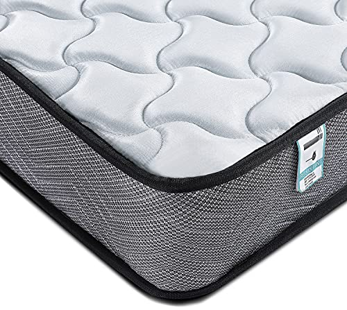 Kono King Size Mattress Size 5FT Spring Mattress Medium Firm with Memory Foam and 3D Breathable Quilted Knitting Fabric Fire Resistant