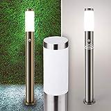 Wegeleuchte Aussenleuchte Standleuchte Standlampe Gartenleuchte Edelstahl E27 232-800 mit Bewegungsmelder