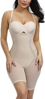 Sekluxy Body Shaper Underwear for Women Shapewear Bodysuit Tummy Control Thigh Silimmer