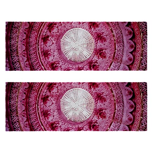 Toallas de gimnasio de fitness A Pink Laced Cloth Print de secado rápido Toalla de microfibra deportiva de entrenamiento para hombres y mujeres, paquete de 2