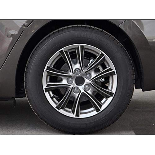 ZQTG Bujes de Fibra de Carbono Pegatinas de Fibra de Carbono para Coche para Mazda 3 m3 Axela 2013 2014 2015 Calcomanía para Exteriores (Color: 16 Pulgadas)