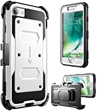 i-Blason Case for iPhone 7 2016/iPhone 8 2017 Release, [Armorbox] Built in [Screen Protector] [Full body] [Heavy Duty Protection ] Shock Reduction/Bumper Case (White)