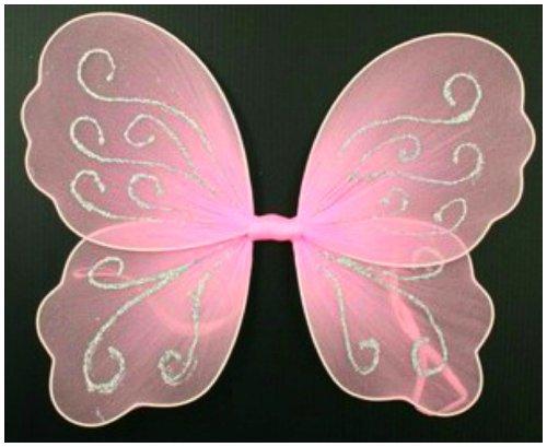 Petite Rose Butterfly Angel Paillette Aile Fée pour filles / enfants