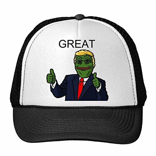 DIYthinker Amerika Amerikaanse president trieste kikker Trump grappig laten we maken Amerika groot weer belachelijk spoof Meme afbeelding Trucker hoed honkbal pet nylon mesh hoed verstelbare pet