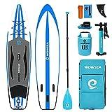 WOWSEA Tabla Hinchable Paddle Surf, Paddle Board Hinchable con tamaño de 335 x 81 x 15cm, Carga de 145-150kg