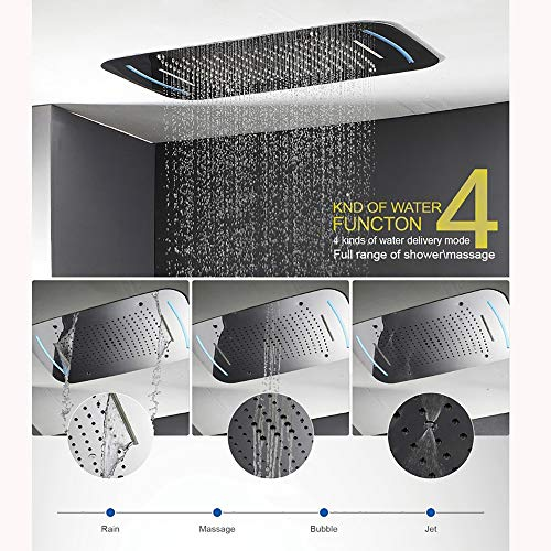 Why Choose XSGDMN 710430 LED Constant Temperature Ceiling Shower Set,Thermostatic LED Shower Head,Wa...