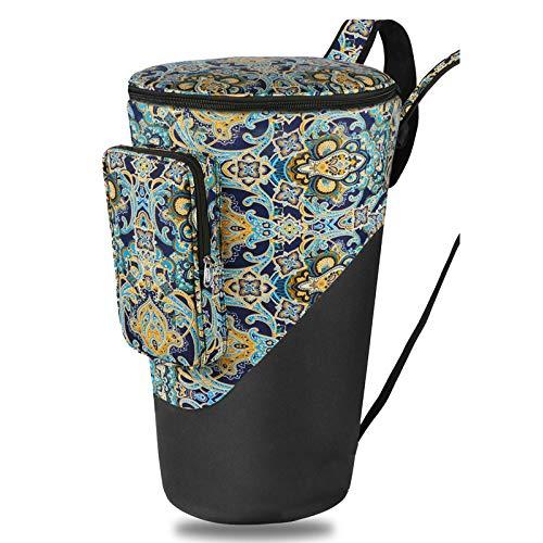 HOMDREAM African Drum Bag 10/12 '' Tragetasche Für Afrikanische Trommeln Mit Verstellbarem Doppeltem Schultergurt,C-10inch