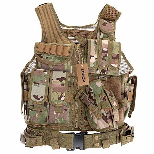 Lixada Maglia per Tattico Militare Esercito Poliestere Airsoft Gilet da Caccia per all¡¯Aperto Campeggio Escursionismo