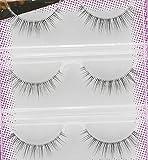 Best Deal 3 Pair/Lot Women false eyelashes Crisscross Voluminous