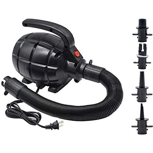 Electric Pump for Inflatables Air Mattress Pump Air Bed Pool Toy Raft Boat Quick Electric Air Pump Black (AC Pump(600W))