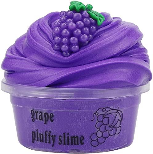 Slime Fluffy Deja Fait Butter Slime Crunchy Pas Cher Objet Satisfaisant Slime Jouet Enfant Garçon Fille (Raisin)
