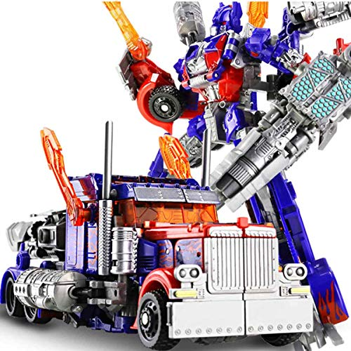 Robot Can Switch Shape Car Model Figure Alloy + ABS Figures Anime Toys Optimus Prime