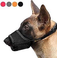 HEELE Dog Muzzle,Soft Nylon Muzzle Anti Biting Barking Chewing,Air Mesh Breathable Drinkable Adjustable Loop Pets Muzzle...