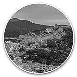 Impresionantes pegatinas de vinilo (juego de 2) 30 cm BW – Mallorca España Apdepera Town Divertidas calcomanías para portátiles, tabletas, equipaje, reserva de chatarras, neveras, regalo genial #38857