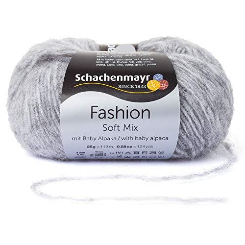 Schachenmayr Handstrickgarne Soft Mix, 25g Mittelgrau