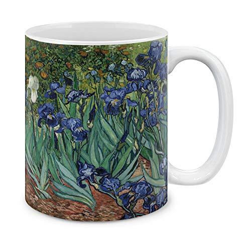 MUGBREW Classic Art Irises Vincent Van Gogh Ceramic Coffee Mug Tea Cup, 11 OZ