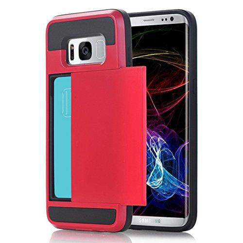 Telefoon Hoesje Case voor Samsung Galaxy S7 Hoesje Case Hybride harde kaart opslag Armor Hoesje Case Case Accessoires voor S7 (5.1 inch) Pantser Hoesje Case Samsung Galaxy S7 Edge 5.5 inch S7 Edge-6